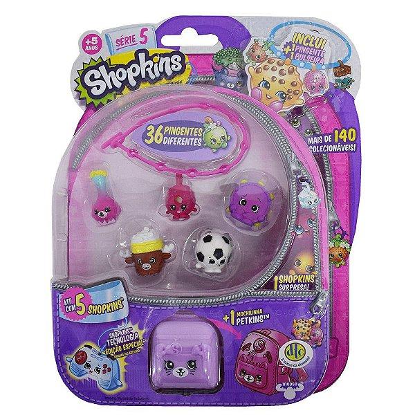Shopkins Blister Kit 4 Com 5 Personagens - Série 5 - DTC