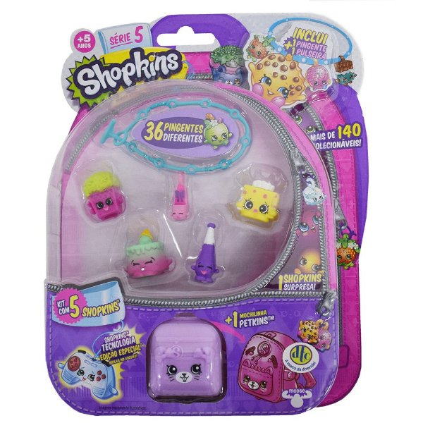 Shopkins Blister Kit 5 com 5 Personagens - Série 5 - DTC