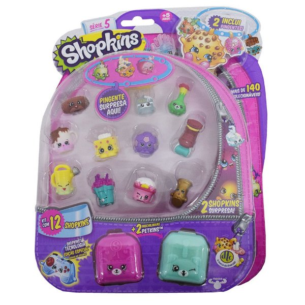 Shopkins Blister Kit 4 Com 12 Personagens - Série 5 - DTC