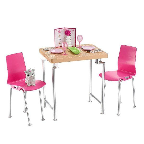 Jantar Especial da Barbie Com Pet - Mattel