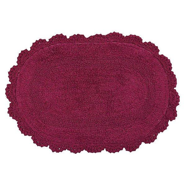Tapete Oval de Crochê 40cm x 60cm - Marsala - Kacyumara