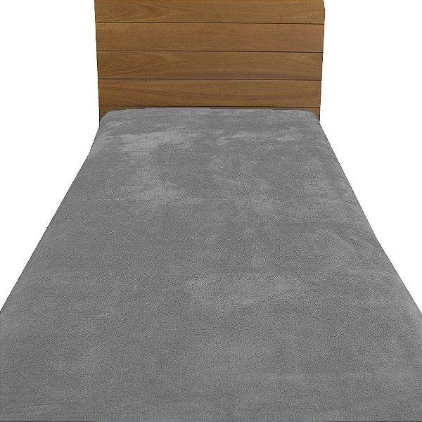 Cobertor Microfibra Solteiro - Cinza Claro - Parahyba
