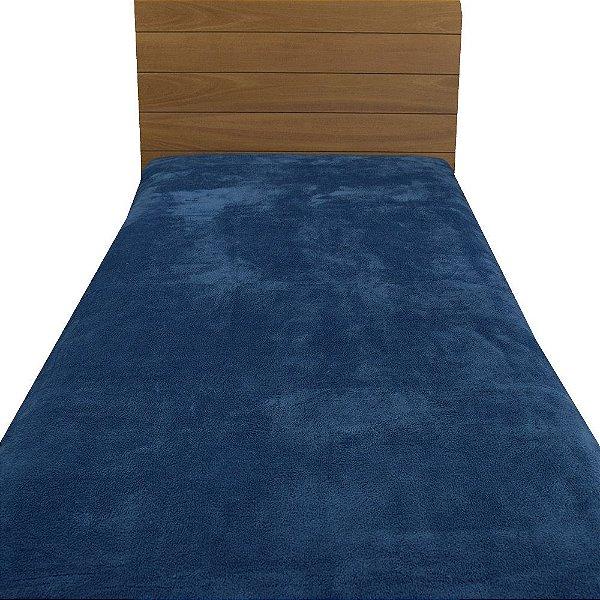Cobertor Microfibra Solteiro - Azul Escuro - Parahyba