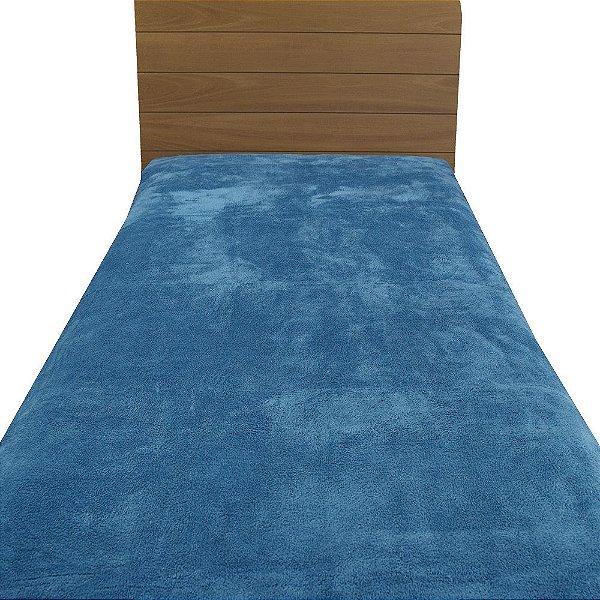 Cobertor Microfibra Solteiro - Azul - Parahyba