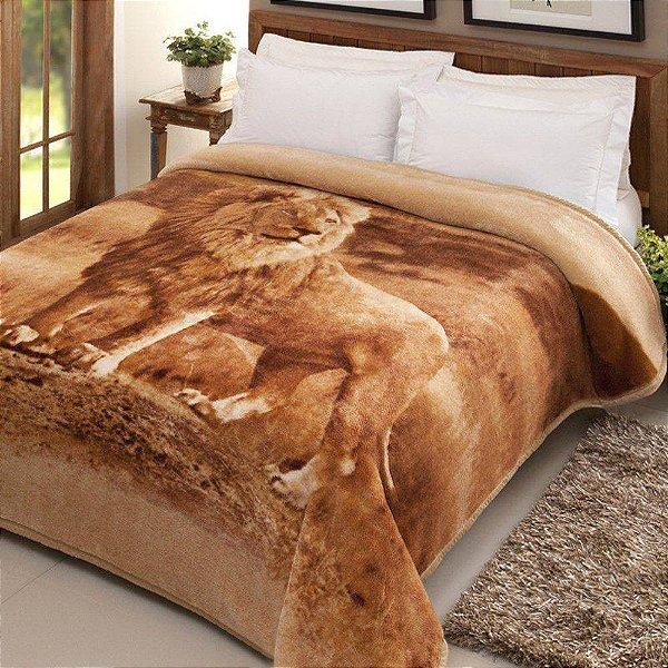 Cobertor Casal Tradicional Pelo Alto - Nantes Leão - Jolitex