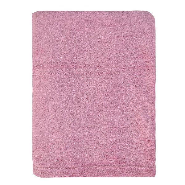 Cobertor Microfibra Para Viagem - Rosa - Parahyba