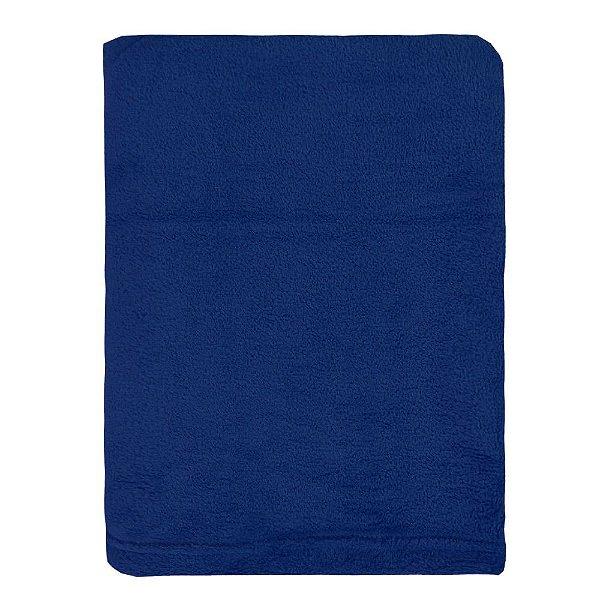 Cobertor Microfibra Para Viagem - Azul Escuro - Parahyba