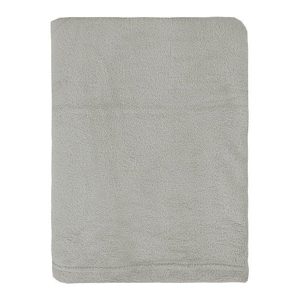 Cobertor Microfibra Para Viagem - Cinza Rato - Parahyba