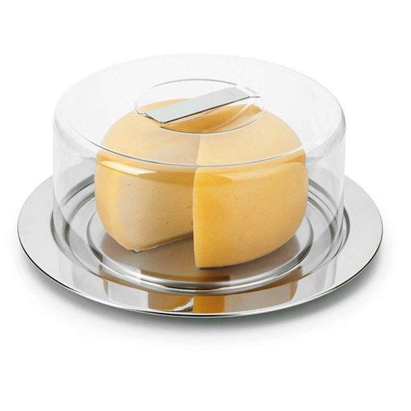 Prato Para Queijo e Bolo 20cm - 2 Peças - Forma