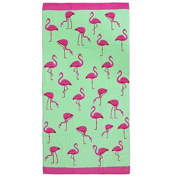 Toalha de Praia - Flamingos - Döhler