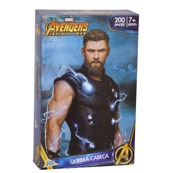 Quebra-Cabeça Avengers Infinity War - Thor - 200 Peças - Jak