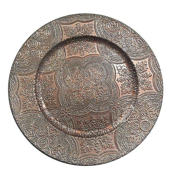 Conjunto Sousplast 33cm - 2 peças - Bronze Luxo - L'Hermitage