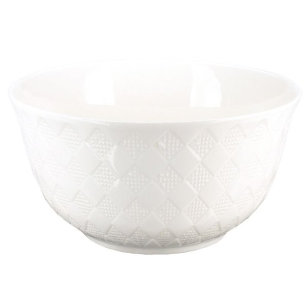 Bowl em Porcelana Cuenco Branco - Losangos Pontilhados - L'Hermitage