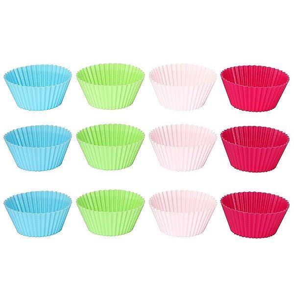 Jogo de Formas Para Muffins - 12 Peças - Mimo Style