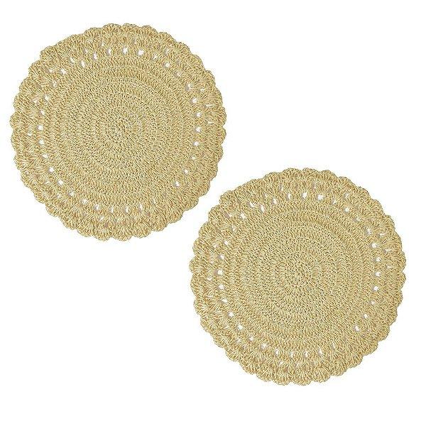 Conjunto Americano Crochê Offwhite - Bege - Mimo Style