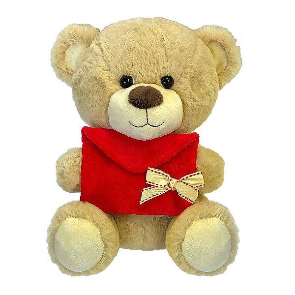 Pelúcia Urso Cartinha de Amor - Pequeno - Buba