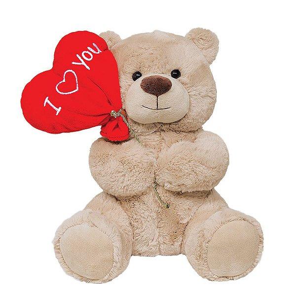 Pelúcia Urso Balão Love Pequeno - Buba
