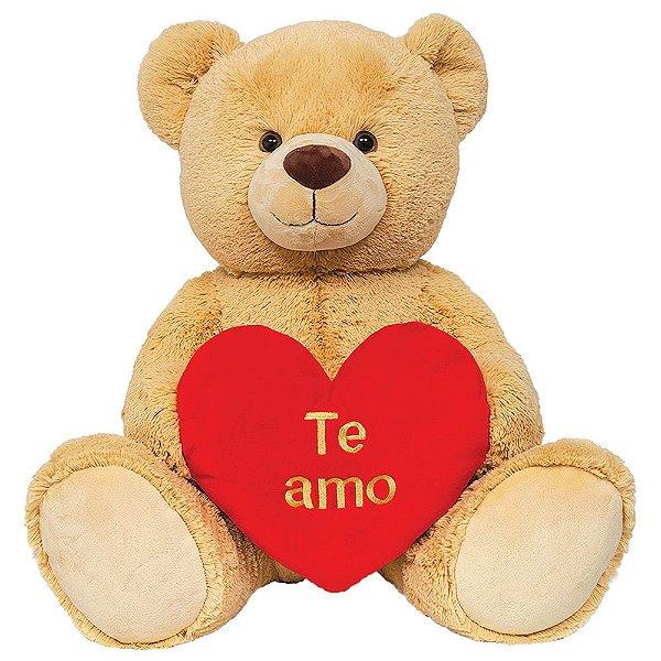 Pelúcia Urso Te amo Grande - 55cm - Buba
