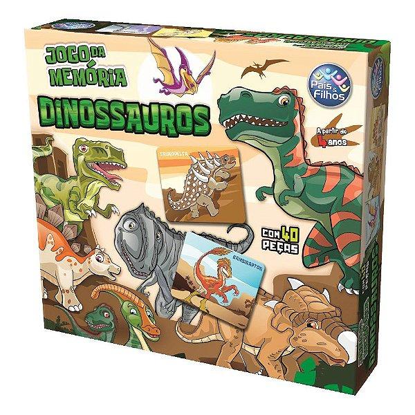 Jogo da Memória Dinossauros - Pais e Filhos
