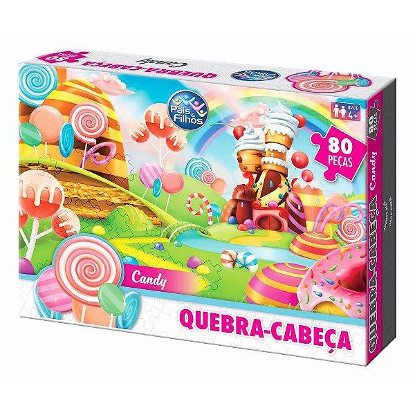 Quebra Cabeça Candy - 80 Peças - Pais e Filhos