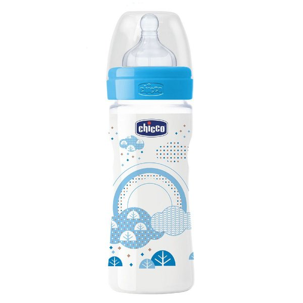 Mamadeira Well-Being 250ml Azul - +2 Meses - Chicco