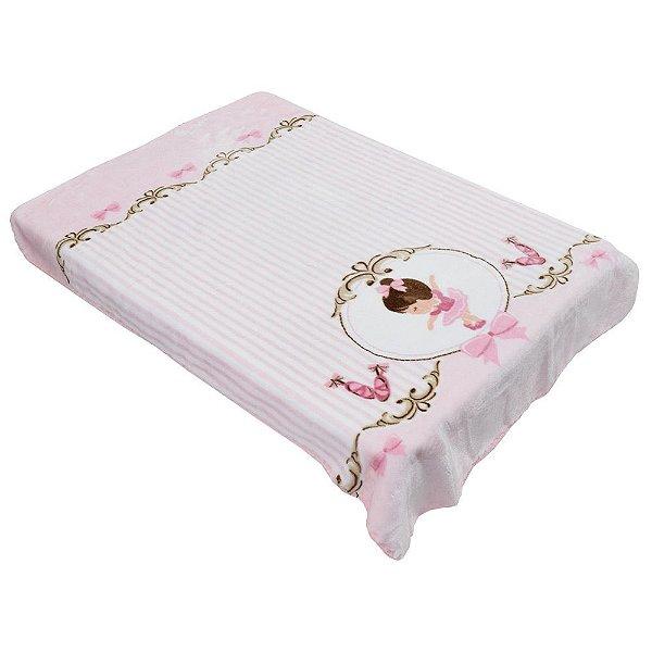 Cobertor Para Berço Le Petit Raschel - Bailarina - Colibri