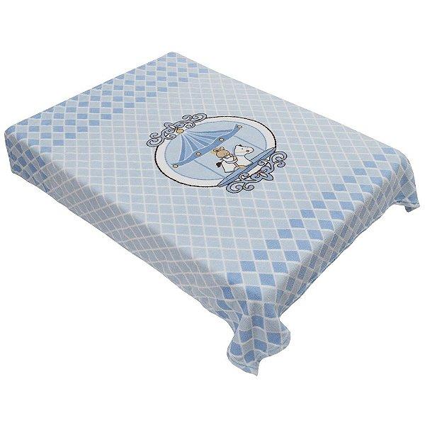 Cobertor para Berço Acalanto - Carrossel Azul - Colibri