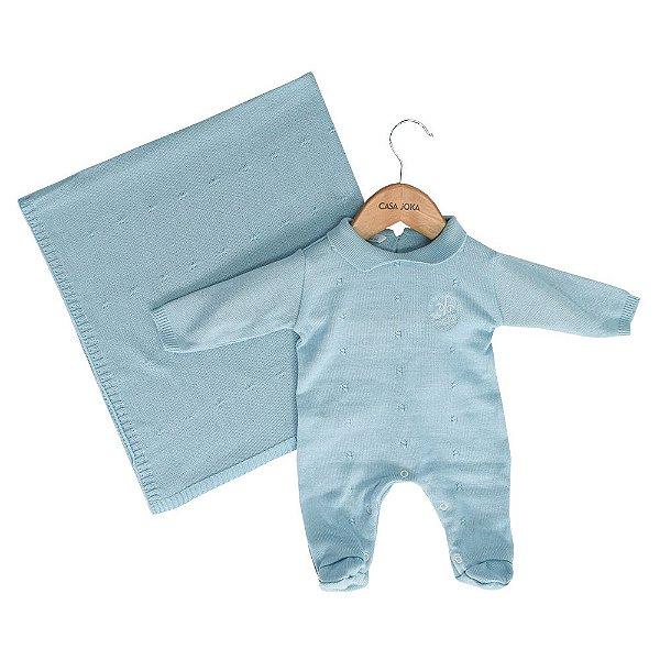 Kit Saída de Maternidade Le Tricot - Azul - Colibri