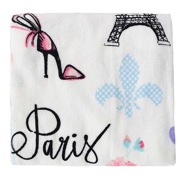 Cobertor Ultrasoft Infantil - Linha Berço - Paris - Parahyba
