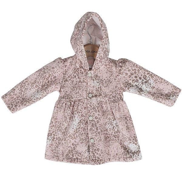 Casaco Vestido Soft Com Capuz - Oncinha - Bicho Molhado