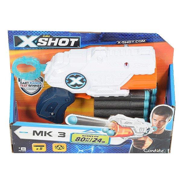 Lançador de Dardos X Shot Micro TK-3 - Branco - Candide