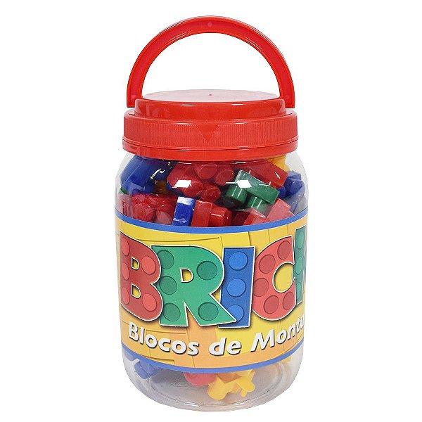 Blocos de Montar Bricks - 56 Peças - Pais e Filhos