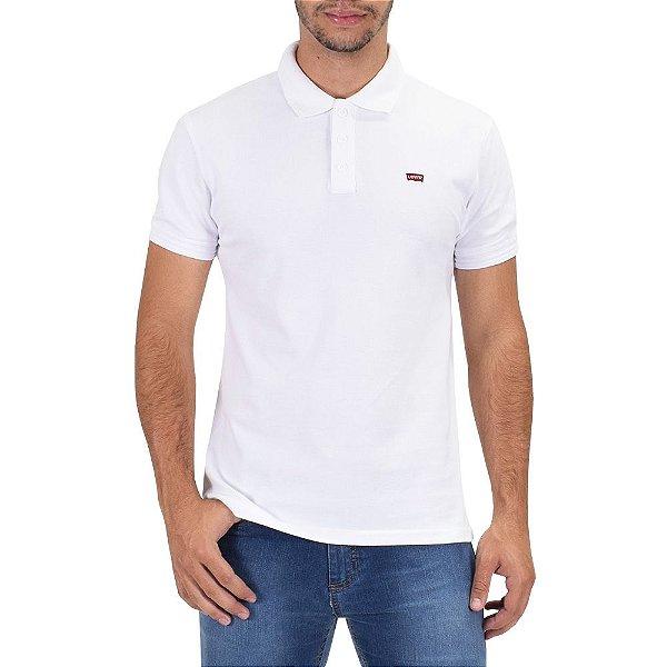 7acb90a314 Camiseta Polo Masculina - Branca - Levis - Casa Joka