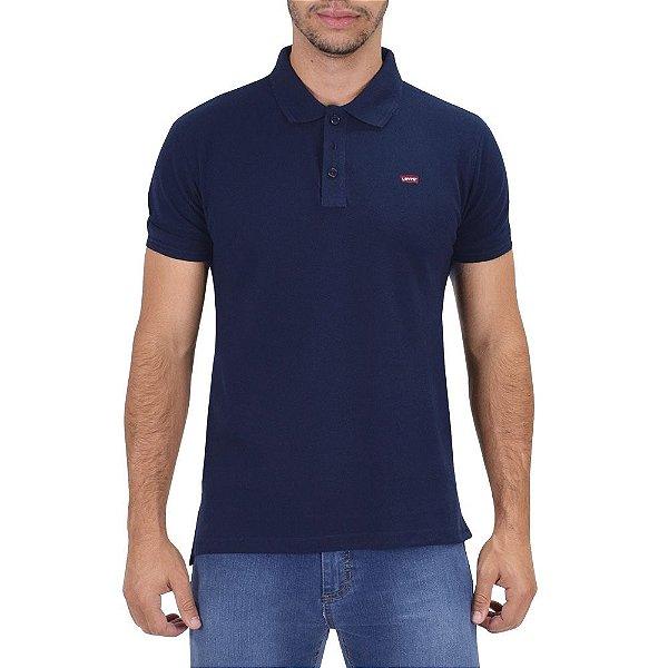 Camiseta Polo Masculina - Marinho - Levis