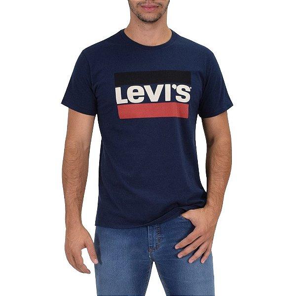 Camiseta Originals 2 Listras Levi's - Azul Escuro - Levis
