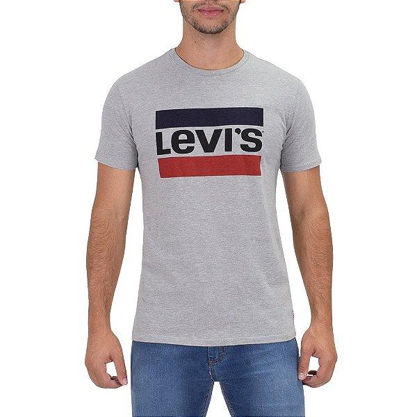 Camiseta Originals 2 Listras Levi's - Cinza - Levis