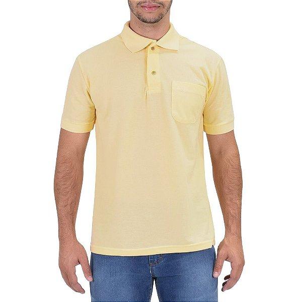 Camisa Polo Masculina Amarelo Claro - Wayna