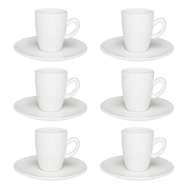 Jogo de Xícaras de Café Expresso Longo 75ml - Oxford