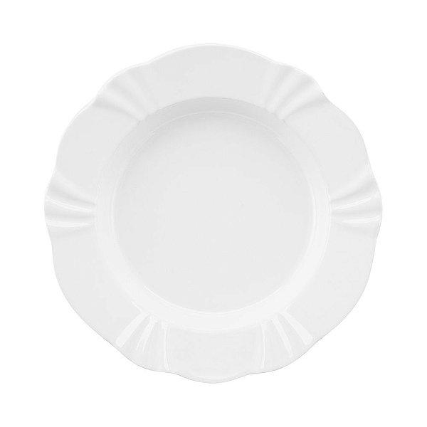 Prato Fundo Soleil White 24cm - Oxford