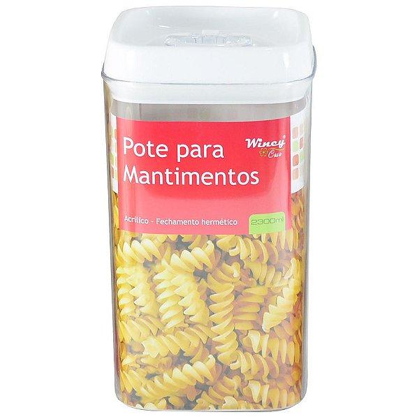 Pote Para Mantimentos Hermético - 2,3L - Wincy