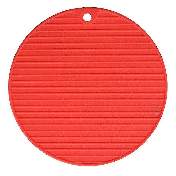 Descanso de Panela em Silicone - Vermelho - Class Home