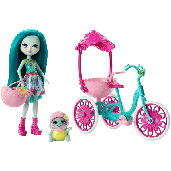 Enchantimals - Bicicleta Para Dois - Taylee Turtle e Bounder - Mattel