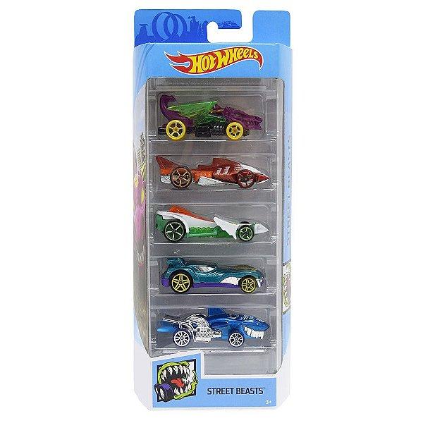 Kit Hot Wheels 5 Unidades - Street Beasts - Mattel