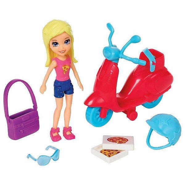 Polly Pocket - Scooter é Hora de Pizza - Mattel