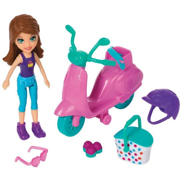 Polly Pocket - Scooter Piquenique Divertido - Mattel