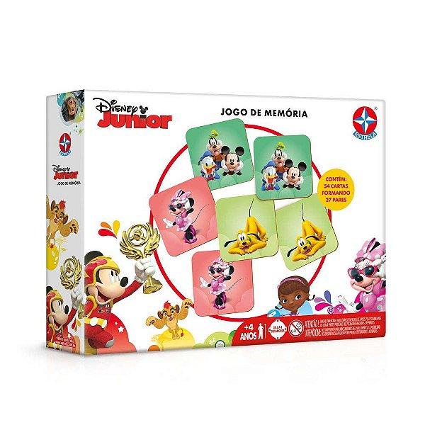 Jogo da Memória Disney Junior - 54 Cartas - Estrela