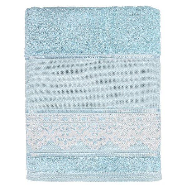 Toalha de Banho Pinte e Borde Luciana - Azul Claro - Santista