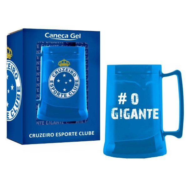 Caneca Gel 300ml - Cruzeiro Azul - Brasfoot