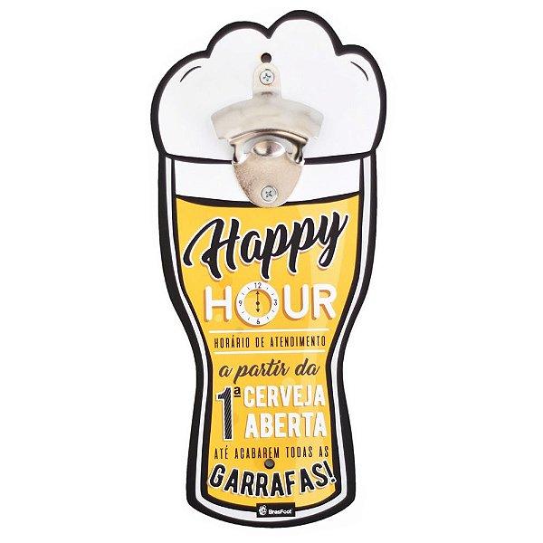 Abridor de Garrafas de Parede - Happy Hour - Brasfoot