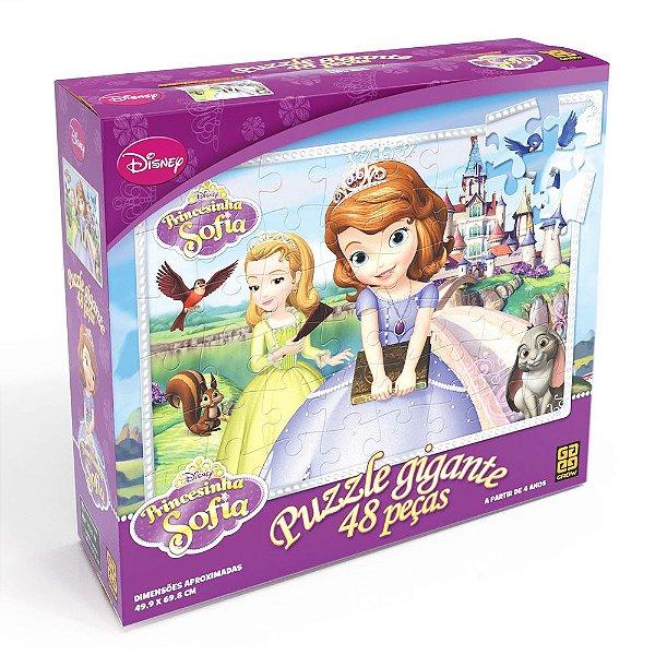 Puzzle Gigante Princesinha Sofia - 48 Peças - Grow